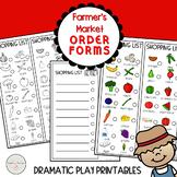 Farmer's Market Shopping List Order Forms