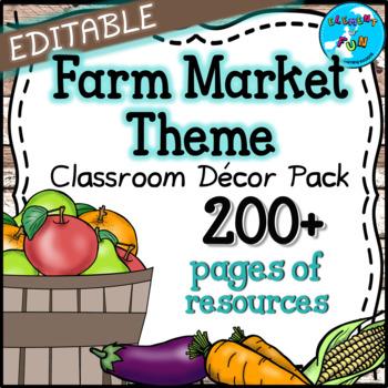 farm market themed classroom decor pack fruit and vegetable