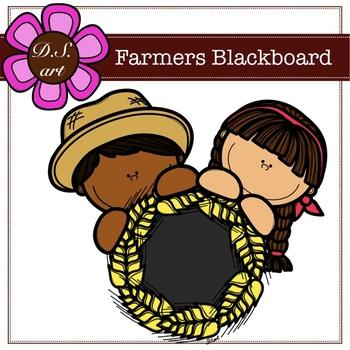 Farmers Blackboard Digital Clipart (color and black&white)