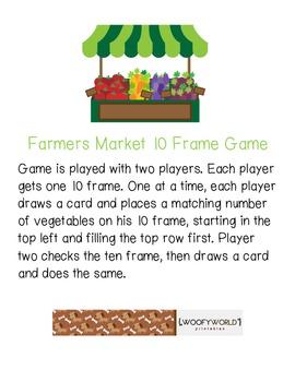 Farmers Market 10 Frame Game