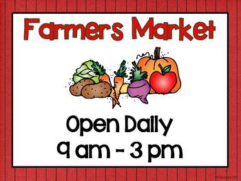 Farmers Market Dramatic Play Center