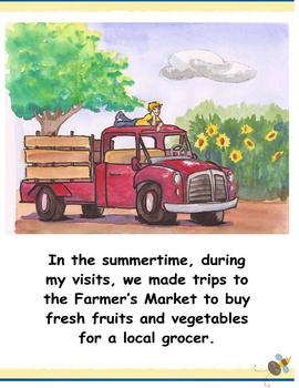 Farmers' Market & Family Values Picture Book