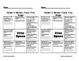 Farmers Market Field Trip BINGO and Notes