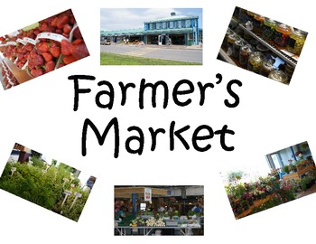 Farmer's Market Pretend Center Sign