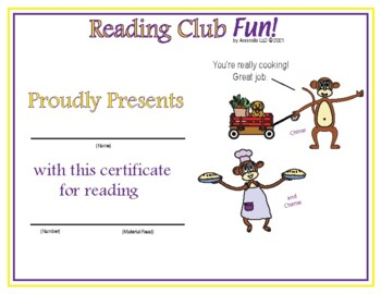 Farmers' Market Reading Log and Certificate Set