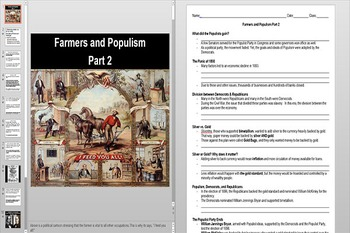 Farmers and Populism Powerpoint AND Notes Worksheet