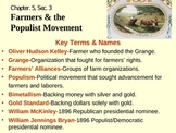 Farmers and the Populist Movement-Chp.5,Sec.3