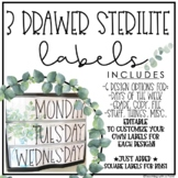 Farmhouse Drawer Labels | Editable