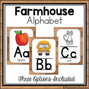Farmhouse Alphabet - Wooden Shiplap