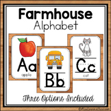 Farmhouse Alphabet - Wooden Shiplap