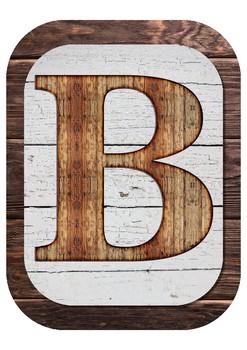 Farmhouse Alphabet Classroom Decor - Bulletin Board Header - Wall Words