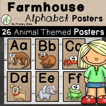 Farmhouse Alphabet Classroom Posters