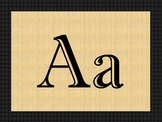 Farmhouse Alphabet Decor