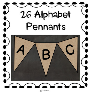 Farmhouse Alphabet Pennants