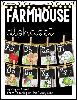 Farmhouse Alphabet Posters