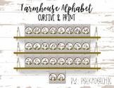 Farmhouse Alphabet Posters