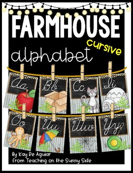 Farmhouse Alphabet Posters - Corrugated Metal - Cursive
