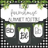 Farmhouse Alphabet Posters {Farmhouse Plaid Classroom Decor}