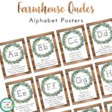 Farmhouse Decor Alphabet Posters (Growth Mindset Quotes)