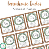 Farmhouse Decor Alphabet Posters (Growth Mindset Quotes)