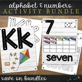 Farmhouse Alphabet and Numbers Bundle