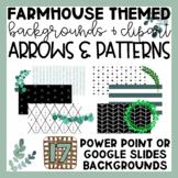 Farmhouse Arrows and Patterns Slide Backgrounds | Clip Art