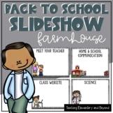 Farmhouse Back to School Powerpoint {Editable} Meet the Teacher | Open House