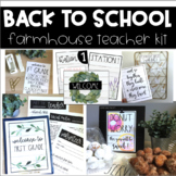 Farmhouse Back to School Set (EDITABLE)