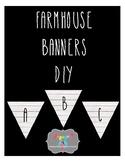Farmhouse Banners DIY