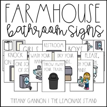 Farmhouse Bathroom Signs
