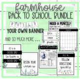 Farmhouse Beginning of the Year BUNDLE! Opening procedures, rules, and MORE :)