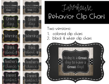 Farmhouse Behavior Clip Chart