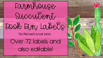 Farmhouse Bin Labels-Editable