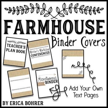 Farmhouse Binder Covers