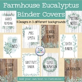 Farmhouse Binder Covers with Eucalyptus: Editable