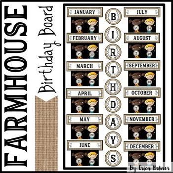Farmhouse Birthday Board