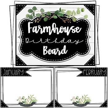 Farmhouse Birthday Board