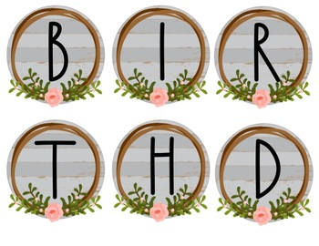 Farmhouse Birthday Bulletin Board Set