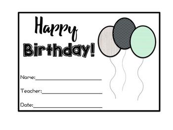 Farmhouse Birthday Balloons Kit 1 *Editable*