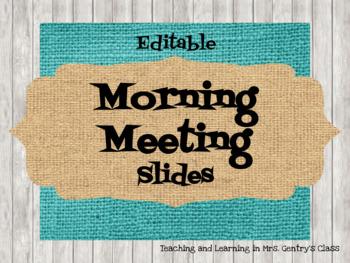 Farmhouse Brights Morning Meeting Slides