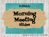 Farmhouse Brights Morning Meeting Slides