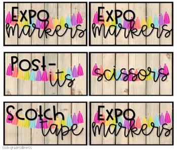 Farmhouse Brights - Toolbox Labels **With editable options!**