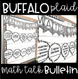 Farmhouse - Buffalo Plaid Math Talk Bulletin & Student Ref