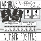 Farmhouse - Buffalo Plaid Number Posters & Number Line