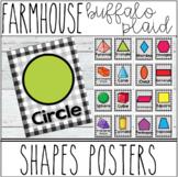 Farmhouse - Buffalo Plaid Shapes Posters 2D & 3D