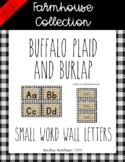 Farmhouse Buffalo plaid and burlap word wall headers *Smal