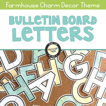 Farmhouse Bulletin Board Letters