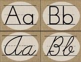 Farmhouse Burlap: Alphabet Cards / Banner / Posters (Print