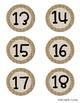 Farmhouse Burlap Calendar Numbers
