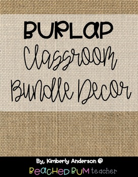 Farmhouse Burlap Classroom Decor HUGE Bundle: 22 Items / Classroom Pieces!!!